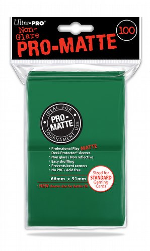 Ultra Pro Pro-Matte Standard Size Deck Protectors - Green [6 packs]