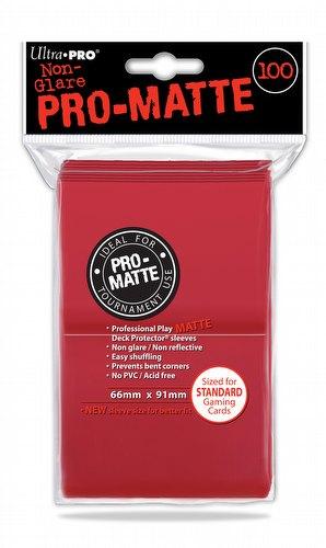 Ultra Pro Pro-Matte Standard Size Deck Protectors - Red [6 packs]