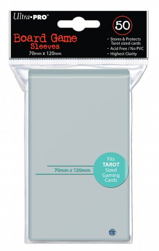 Ultra Pro Tarot Card Size Board Game Sleeves Pack [70mm x 120mm]