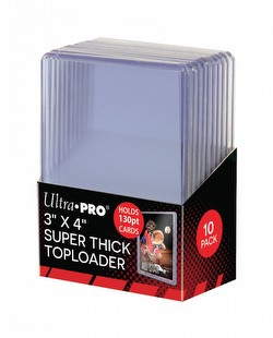 Ultra Pro Thick Card (130pt) Toploader Pack [1 pack of 10 Toploaders]