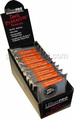 Ultra Pro Pro-Matte Yu-Gi-Oh Size Deck Protectors Box - Clear