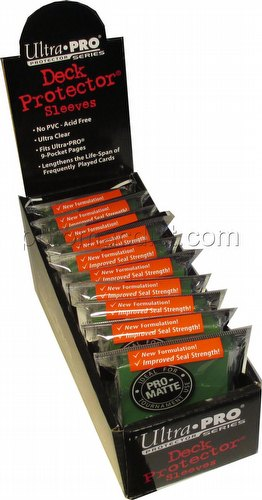 Ultra Pro Pro-Matte Yu-Gi-Oh Size Deck Protectors Box - Green