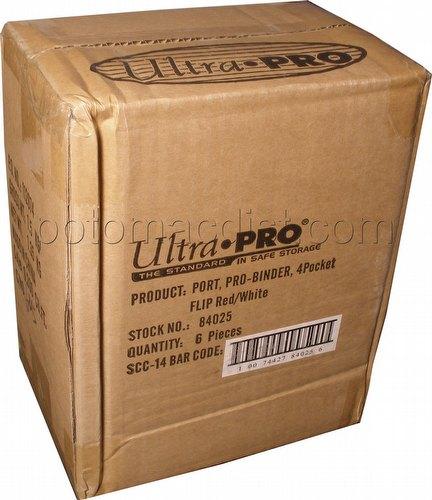 Ultra Pro 4-Pkt Flip Pro Binder Case - Red/White