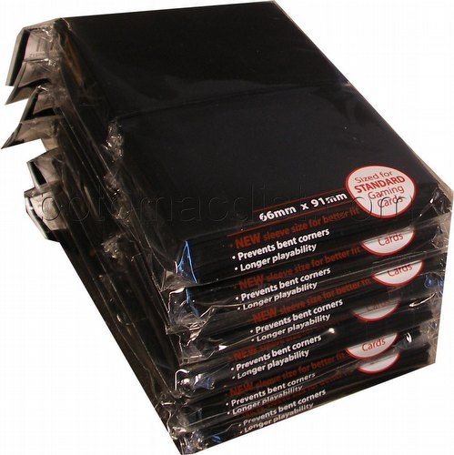 Ultra Pro Standard Size Deck Protectors - Black [6 packs/66mm x 91 mm]