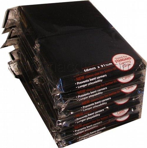 Ultra Pro Standard Size Deck Protectors - Black [6 packs/66mm x 91 mm]