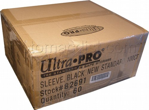 Ultra Pro Standard Size Deck Protectors Case - Black [60 packs/66mm x 91 mm]