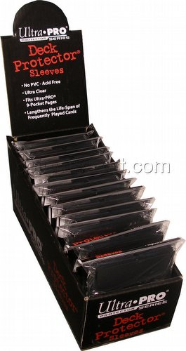 Ultra Pro Standard Size Deck Protectors Box - Black [12 packs/66mm x 91mm]