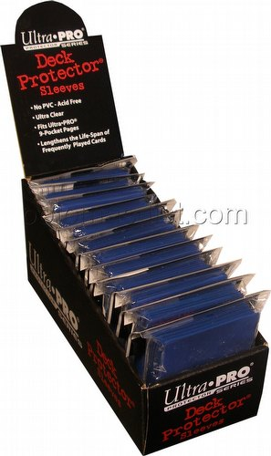 Ultra Pro Standard Size Deck Protectors Box - Blue [12 packs/66mm x 91mm]