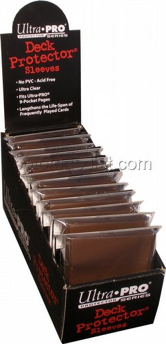 Ultra Pro Standard Size Deck Protectors Box - Brown [12 packs/66mm x 91mm]