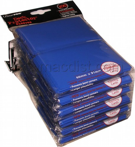 Ultra Pro Standard Size Deck Protectors - Blue [6 packs/66mm x 91 mm]]