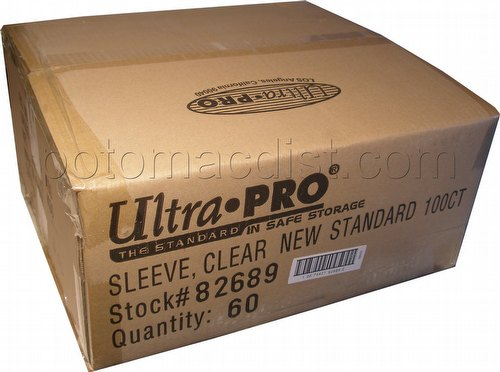 Ultra Pro Standard Size Deck Protectors Case - Clear [60 packs]