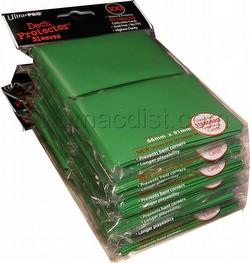 Ultra Pro Standard Size Deck Protectors - Green [6 packs/66mm x 91mm]