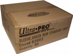 Ultra Pro Standard Size Deck Protectors Case - Green [60 packs/66mm x 91mm]