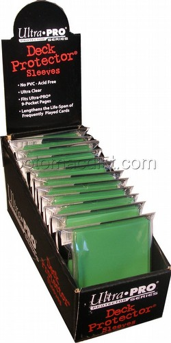 Ultra Pro Standard Size Deck Protectors Box - Green [12 packs/66mm x 91mm]