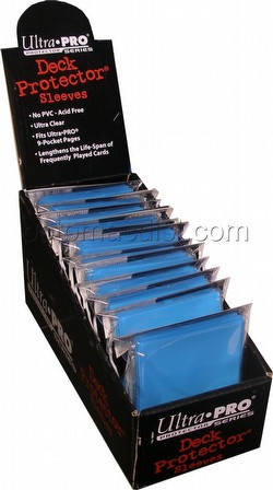 Ultra Pro Standard Size Deck Protectors Box - Light Blue [12 packs/66mm x 91mm]