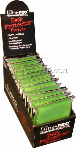 Ultra Pro Standard Size Deck Protectors Box - Lime Green [12 packs/66mm x 91mm]
