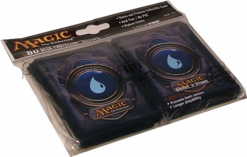 Ultra Pro Standard Size Deck Protectors - Blue Magic Mana Symbol Version 3 Pack
