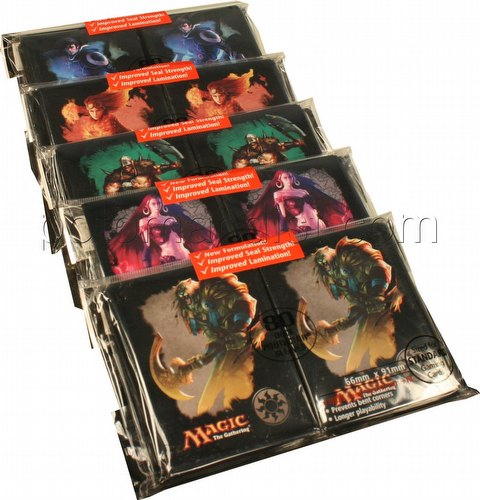 Ultra Pro Standard Size Deck Protectors - Magic Mana Symbol Version 4 Set [5 packs]