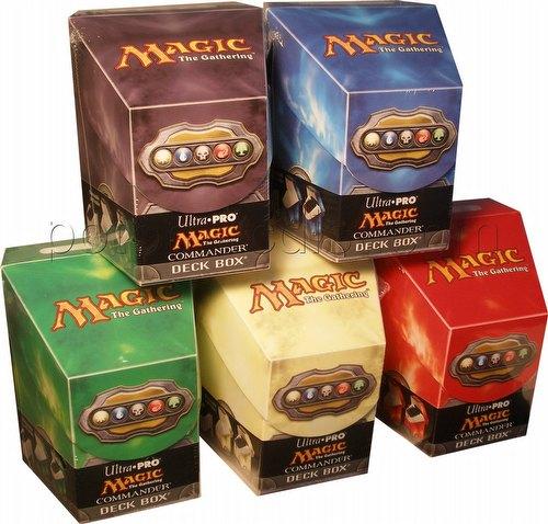 Ultra Pro Magic Mana Mixed Commander Deck Box Lot [5 deck boxes/1 of each color]