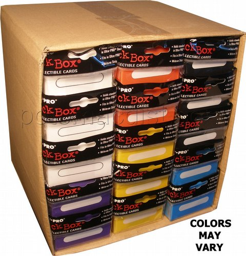 Ultra Pro Mixed Deck Box Case [30 total deck boxes/6 different colors/] (Our choice)
