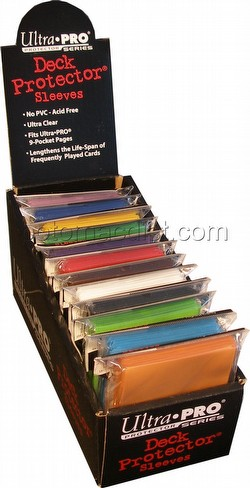 Ultra Pro Standard Size Deck Protectors Box - Mix of Colors [12 packs per box/12 different colors]