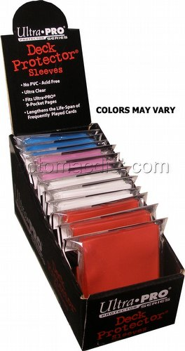 Ultra Pro Standard Size Deck Protectors Box - Mix of Colors [12 packs per box/Our Choice]