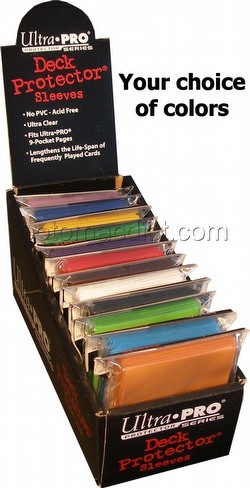 Ultra Pro Standard Size Deck Protectors Box - Mix of Colors [12 packs per box/Your choice of colors]