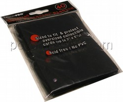 "Ultra Pro Oversized Deck Protectors Pack - Black (Fits cards 3 1/2"" x 5 1/2"")"