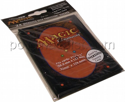 "Ultra Pro Oversized Deck Protectors Pack - Magic Card Back (Fits cards 3 1/2"" x 5 1/2"")"