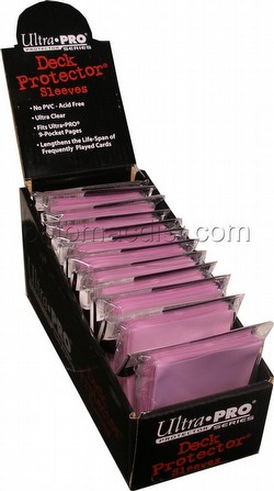 Ultra Pro Standard Size Deck Protectors Box - Pink [12 packs/66mm x 91mm]