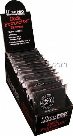 Ultra Pro Pro-Matte Standard Size Deck Protectors Box - Black