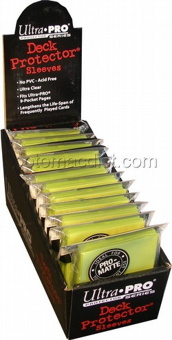 Ultra Pro Pro-Matte Standard Size Deck Protectors Box - Bright Yellow