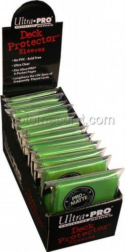 Ultra Pro Pro-Matte Standard Size Deck Protectors Box - Lime Green