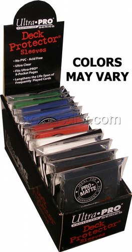 Ultra Pro Pro-Matte Standard Size Deck Protectors Box - Mixed Colors
