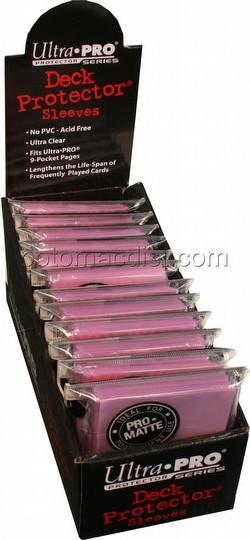 Ultra Pro Pro-Matte Standard Size Deck Protectors Box - Pink