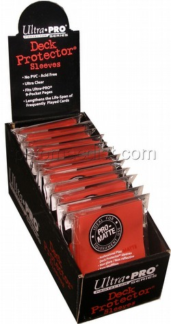 Ultra Pro Pro-Matte Standard Size Deck Protectors Box - Red