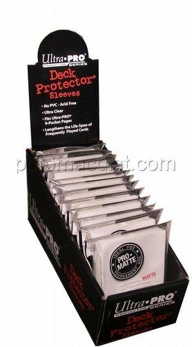 Ultra Pro Pro-Matte Standard Size Deck Protectors Box - White