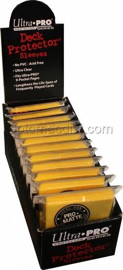 Ultra Pro Pro-Matte Standard Size Deck Protectors Box - Yellow