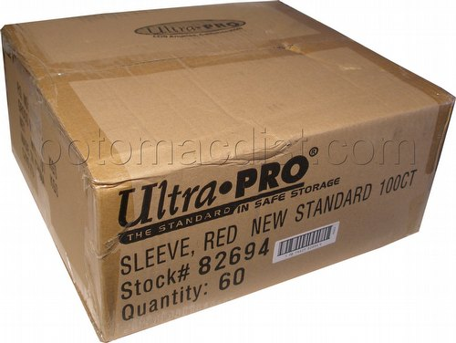 Ultra Pro Standard Size Deck Protectors Case - Red [60 packs]