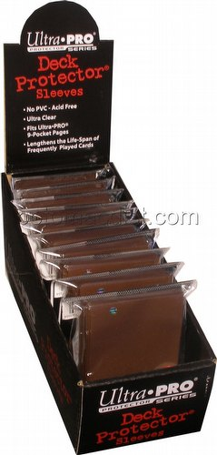 Ultra Pro Size Deck Protectors Box - Brown [10 packs/62mm x 89mm] (New Hologram Location)