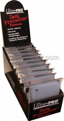 Ultra Pro Size Deck Protectors Box - Clear [10 packs/62mm x 89mm]