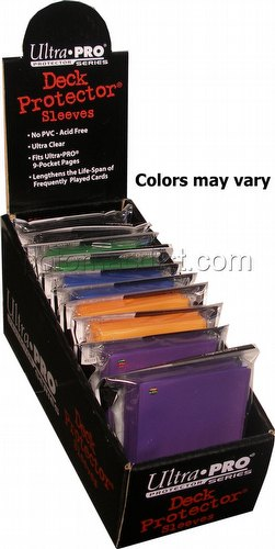 Ultra Pro Size Deck Protectors Box - Mix of Colors [Our Choice/62x89mm/10 packs per box]