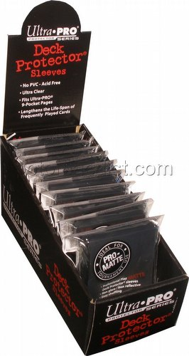 Ultra Pro Pro-Matte Yu-Gi-Oh Size Deck Protectors Box - Black