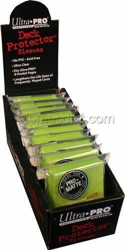 Ultra Pro Pro-Matte Yu-Gi-Oh Size Deck Protectors Box - Bright Yellow
