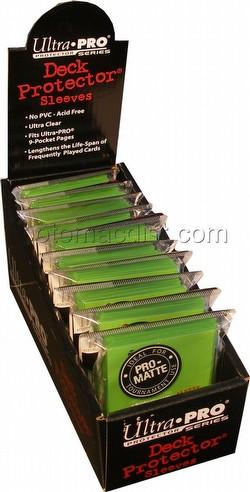 Ultra Pro Pro-Matte Yu-Gi-Oh Size Deck Protectors Box - Lime Green