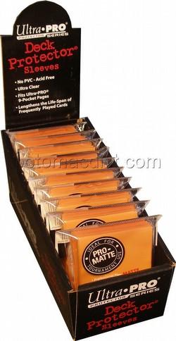 Ultra Pro Pro-Matte Yu-Gi-Oh Size Deck Protectors Box - Orange