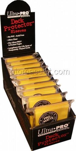 Ultra Pro Pro-Matte Yu-Gi-Oh Size Deck Protectors Box - Yellow