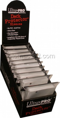 Ultra Pro Size Deck Protectors Box - White [10 packs/62mm x 89mm] (New Hologram Location)