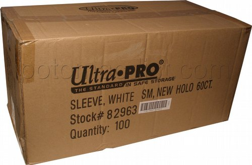 Ultra Pro Size Deck Protectors Case - White [10 boxes] (New Hologram Location)