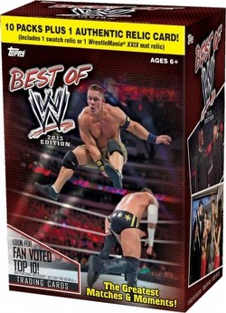 13 2013 Topps Best of WWE Wrestling Cards Blaster Box Case [Retail/16 boxes]